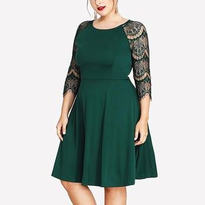 Dresses & Skirts - Lady Madden Plus Frost Green Lace Dress, 1-4X